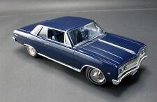 1965 CHEVY MALIBU SS DANUBE BLUE ACME CHEVELLE 1:18 DIECAST VINTAGE CAR GMP