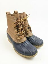 "Womens LL Bean 8"" Bean Boots Blue Rubber Sz 9 M"