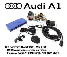 AUDI A1 - Kit PARROT Bluetooth MKI 9000 + UNIKA + Faisceau MMI iPhone No Carplay
