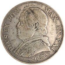 Moneta 1 Lira 1867 Pio IX° Stato Pontificio