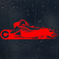 Signo de moto cráneo Motor Cycles Coche Decal Pegatina De Vinilo Para Panel De Parachoques
