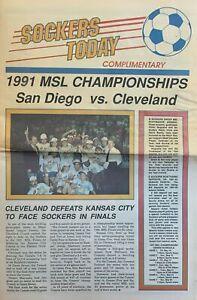 1991 San Diego Sockers vs. Cleveland Crunch MISL Finals Soccer Program #FWIL
