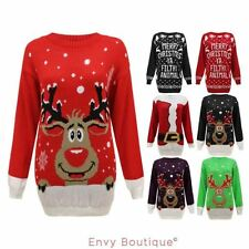 Hip Length Reindeer Jumpers & Cardigans for Women