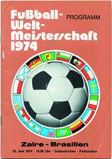 FIFA World Cup 1974. Football Programme Zaire vs Brasil