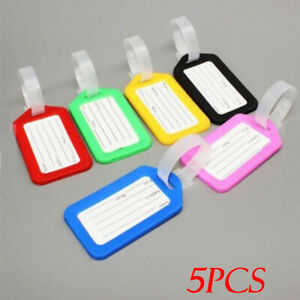 5PCS/Set Travel Luggage Bag Plastic Tags Name ID Cards Travel Bag Suitcase Label