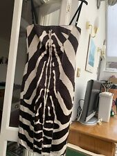 Dolce & Gabbana D&G Brown & Cream Stunning Dress Animal Pattern EU 44 10 12