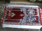 BOX OLD SILK VELVET rug  SECCADE  good condition and solid
