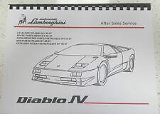 LAMBORGHINI DIABLO SV Parti Manuale 1996-1997, ristampa