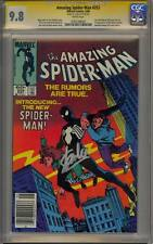 "AMAZING SPIDER-MAN 252 CGC 9.8 SS STAN ""THE MAN"" LEE 1ST BLACK SUIT VENOM MINT"