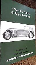 PROFILE PUBLICATIONS CAR #19: THE 4.5 LITRE S-TYPE INVICTA (1966)