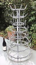 More details for vintage french bottle dryer, galvanised herisson, wine bottle rack, 90cm tall