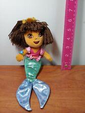 "Ty Beanie Dora the Explorer Mermaid 2007 Original Babies  Plush 11"" Toy"