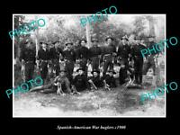OLD LARGE HISTORIC PHOTO OF SPANISH AMERICAN WAR BUGLERS GROUP c1900