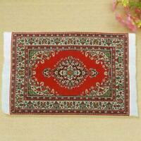 House Decoration 1:12 Miniature Rug for Doll Accessory Woven Carpet Turkish H5L3