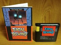 Fatal Rewind  ~ Sega Genesis Game + Manual Tested + Working