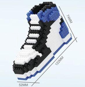 Linkgo Air Jordan 1 Sneaker Building Blocks Lego Blue Black 410 Pieces 68256 Toy