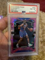 2019 Panini Prizm Short Print Cracked Ice #250 RJ Barrett Rookie Card Psa 8!