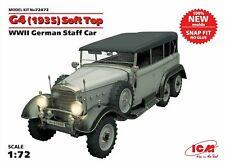 ICM 1:72 Scale - G4 (1935) Soft Top WWII DE Staff Car (Snap fit) Model Kit 72472