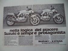 advertising Pubblicità 1982 MOTO SUZUKI KATANA GSX 750 S/1100 S