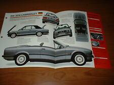 ★★1990 BMW 325i CABRIOLET ORIGINAL IMP BROCHURE SPECS INFO 325 i 90 1986-1992★★