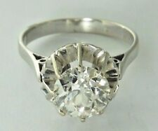 950 Platinum Amazing 1.72 Ct Diamond F Colour Solitaire Ring / Engagement Ring