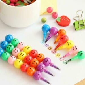 10 x Gift Fashion Children Swap Art Artist Crayon Smile Face Drawing Pen Pencil