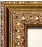 Custom Ornate Gold Picture Frames, Wood w/ Glass, Backer, Hanger, 4x6 - 24x36