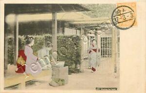 Giappone - Lavaggio delle mani presso la fontana del tempio - 1903
