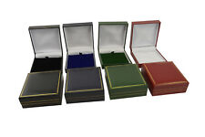 50 Leatherette Pendant/Drop Earring Boxes-COLOUR CHOICE