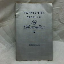 Vintage Booklet 25 Years of Life Conservation By Metropolitan Life