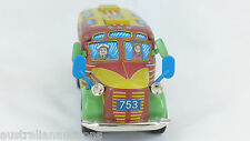 TIN TOY BUS COACH 16cm FRICTION MOTOR QUALITY TOY  MADE BY SANKYOU TOYS JAPAN
