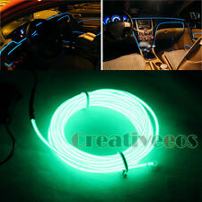 1.5M Car Charge 12V Glow Interior LED EL Wire Rope Tupe Light Line + Drive Green