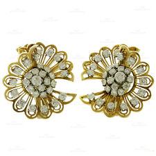 VAN CLEEF & ARPELS Rare Retro 1940s 18k Gold Diamond Clip-on Earrings Brooches