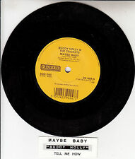 """BUDDY HOLLY Maybe Baby & Tell Me How 7"""" 45 rpm record + juke box title strip NEW"""