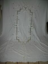 """VINTAGE  POINT DE VENICE / RETICELLA  NEEDLEPOINT TABLECLOTH  66"""" x 83"""" INCHES"""