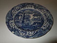 SMALL BLUE AND WHITE SMALL SIDE / TEA PLATE  BY SPODE IN ITALIAN  PATTERN