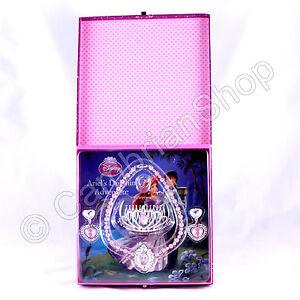 Disney Princess Tiara Earrings Ring Necklace Jewellery Box & 8 Storybooks Books