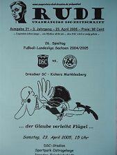 Programm 2004/05 Dresdner SC 1998 - Kickers Markkleeberg