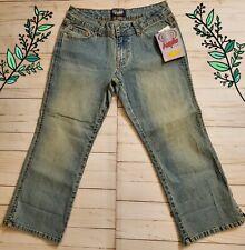 Angels Women Juniors Crop Capri Jeans Size 7 Blue Denim
