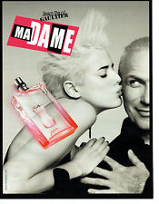 Publicité Advertising 127  2009  parfum Madame JP Gaultier & Agyness Deyn
