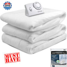 Heated Electric Blanket Mattress Pad Bedroom Blanket 10 Hour Auto Off Twin Size