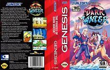Los Piratas de Dark Water Sega Genesis Caja De sustitución Cubierta Estuche De Arte Insertar