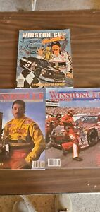Lot of 3 Nascar Winston Cup Illustrated Magazine With Posters  (1991)