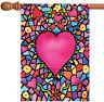 Toland Kaleidoscope Heart 28 x 40 Colorful Multicolor Valentine House Flag