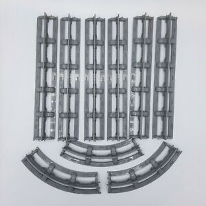 Bluebird Toys 1989 Straight & Curved Grey Tracks 9-Pieces Vintage Toy Accessory