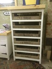 Pine Freestanding Kitchen Handmade Shabby Chic Tray Rack Storage Unit Rustic