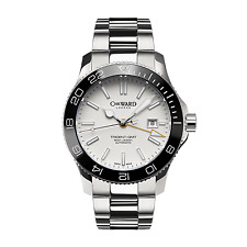 New Christopher Ward C60 Trident Pro 600 GMT White Automatic Diving Watch 43mm