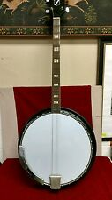 Vintage Sovereign 4 string tenor Banjo guitar Painted Wood Back