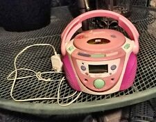 MATTEL BARBIE CD Player Pink Boom Box with cord! Rare!