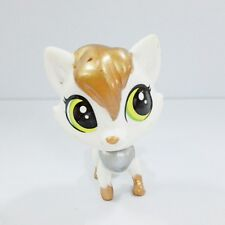 Hasbro Littlest Pet Shop Pet #45 Lulu Foxley White, Silver & Bronze LPS Kid toy